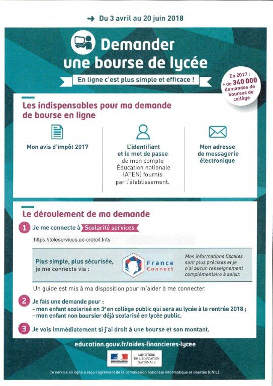 Bourses 2018 2019 Lycee Guillaume Bude